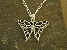 Sterling Silver Butterfly Pendant on a Sterling by peteconder, $32.00