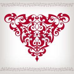ISLAMIC BORDER: vector del marco del diseño de la voluta barroca vendimia elemento esquina patrón grabado ornamento estilo retro Vectores