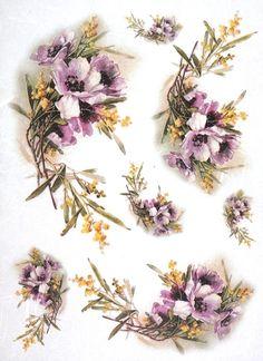 Rice Paper for Decoupage Decopatch Scrapbook Craft Sheet Vintage Pasque-flower
