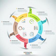 Modern Infographic Paper Template #design Download: http://graphicriver.net/item/modern-infographic-paper-template/12429755?ref=ksioks