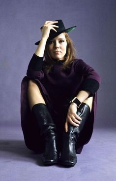 Diana Rigg, The Avengers   From #retro #film   From Karin Lowe