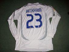 2006 2007 Real Madrid David Beckham L/s Football Shirt Camiseta Adults XL Spain