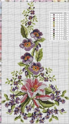 1 million+ Stunning Free Images to Use Anywhere 123 Cross Stitch, Cross Stitch Heart, Cross Stitch Borders, Cross Stitch Flowers, Cross Stitch Designs, Cross Stitching, Cross Stitch Patterns, Cutwork Embroidery, Embroidery Flowers Pattern