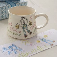 Your Child's Drawing On A Mug from notonthehighstreet.com