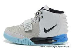 Discounts Men Shoes Gray Blue Nike Air Yeezy II