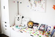 Friedrichs neues Kinderzimmer  die Kissenmeile ist unsere geliebte Sammlung und es werden immer mehr Kissen   Pinspiration