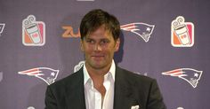 Patriots Quarterback Tom Brady addresses the media during his postgame press…