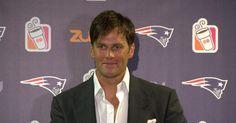 Patriots Quarterback Tom Brady addresses the media during his postgame press…