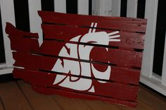 WSU  Washington State University Cougar Sign by YOUHAVETOLUVIT
