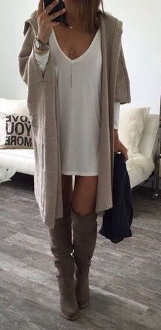 #fall #fashion / oversized cardigan