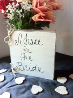 Wedding Advice for the Bride Book - Distressed Guest Book - Rustic Wedding Guest Book - Shabby Wedding Decor on Etsy, $35.00 book wedding, bridal shower advice, advice for the bride book, bride shower, advic book, guest book, bridal shower book theme, book theme bridal shower, advice for bride