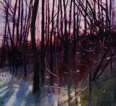 Hard frost underfoot | Watercolour | 230mm x 255mm | 12/02/2013…