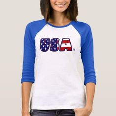 USA Flag Patterned Awesome Lady T-Shirt - pattern sample design template diy cyo customize