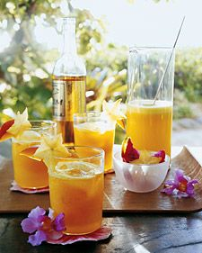 Pineapple and mango cocktails