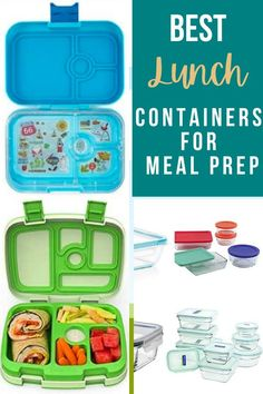 These are my favorite lunch containers to use that keep your lunch at the right temp and fresh all day! Insulated Lunch Containers, Kids Lunch Containers, Glass Storage Containers, Glass Food Storage, Meal Prep Containers, Stainless Steel Lunch Containers, Mason Jar With Straw, Adult Lunch Box