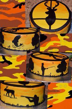Newest Cost-Free sportsman cake recipe Popular - yummy cake recipes Delicious Cake Recipes, Yummy Cakes, Hunting Birthday Cakes, Hunting Cakes, May Birthday, Birthday Parties, Grit Cakes, One Layer Cakes, Modeling Chocolate
