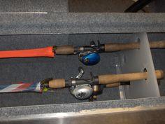 Bass Boat Rod Storage | Rod butt holder