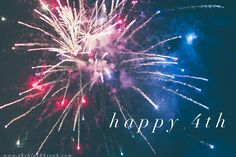 Happy 4th of July!!!  Have fun and be safe <3