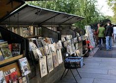 All along the Seine - paintings for sale. We bought a couple.