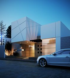 Unbelievable Modern Architecture Designs – My Life Spot Modern Residential Architecture, Facade Architecture, House Front Design, Modern House Design, Facade Design, Exterior Design, Small Modern House Plans, Modern Mansion, Exterior Cladding
