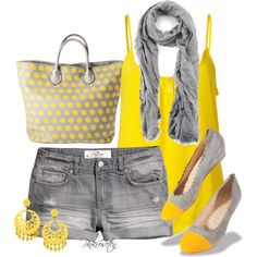Grey and Yellow :) Such cute shoes... Why is everything I like always sold out? I'm too Last Minute!