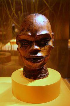 Mask, Ejagham peoples, Cross River region, Nigeria, Late 19th century, Wood, skin, metal, plant fiber, dye | Flickr - Photo Sharing!
