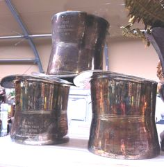Delightful Top Hat Mercantile On The Hunt At Junk Bonanza   Antique Silver Trophy Champagne  Buckets Shaped