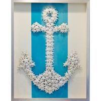 26 beach home decor ideas sunny seaside shore design Seashell Art, Seashell Crafts, Beach Crafts, Diy Crafts, Seashell Projects, Handmade Crafts, Anchor Wall Art, Eclectic Wallpaper, Beach Art