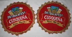 Botones confeccionados con bordado computarizado de alta calidad y precisión. Fueron realizados para el evento del Oktoberfest - Perú, botones publicitarios que irían colocados en las bandas de las anfitrionas.