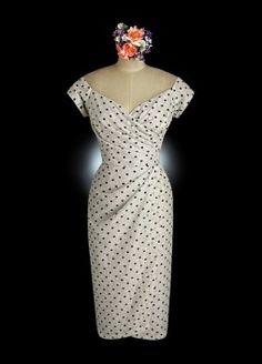 W1034_1-polka dot tea length wedding dresses