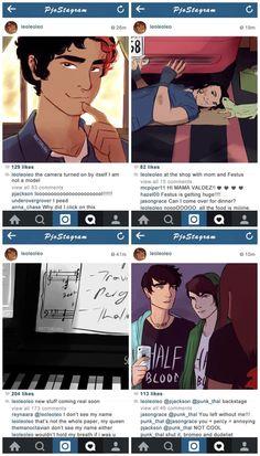 Heroes of Olympus Leo's Instagram posts|AU