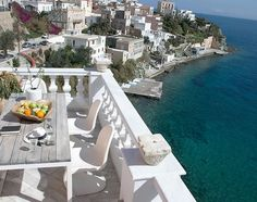 Situated in Ermoupoli, km from Industrial Museum of Ermoupoli and Villa, Greek Islands, 2 Colours, Terrace, Greece, Table Decorations, Mansions, House Styles, Outdoor Decor