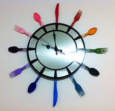 Utensil Clock Gloucestershire Resource Centre http://www.grcltd.org/scrapstore/