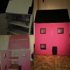 Ručně dělány, malovaný, lepený domek pro panenky
