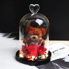 Rose Saint Valentin, Rose Dome, Valentine Day Gifts, Valentines, Flower Lamp, Best Friend Love, Unique Lamps, Love Symbols, Perfect Christmas Gifts