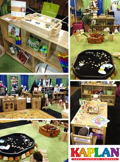 Fun ways to set up reading centers, circle time, and dramatic play areas at our booth during Ohio AEYC this year. #earlyed #education