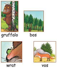 Woordkaarten: De Gruffalo 1/2