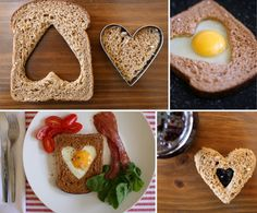 Valentine's Day breakfast with love | Egg-in-a-heart