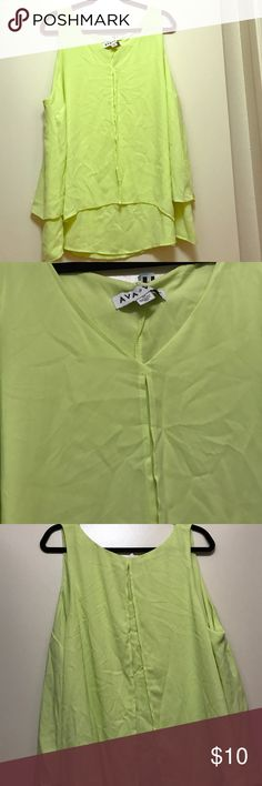 Ava Viv Neon Yellow Blouse Neon yellow blouse by Ava Viv. Size 2x. In great condition. Ava Viv Tops Blouses