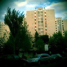 Madrid neighbourhood with a retro effect