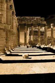"""gwebarchaeology: """" travelingcolors: Bel Temple in Palmyra Ancient Ruins, Ancient Rome, Ancient History, Roman Architecture, Ancient Architecture, Historical Architecture, Palmyra Syria, Brunei, Naher Osten"""