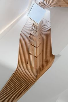 Flow Architecture and Maria Grazia Savito Architects have wrapped timber slats around the lightwell of a Victorian house conversion in London. Extension Designs, Glass Extension, Architects London, Zaha Hadid Architects, Residential Architecture, Interior Architecture, Windows Architecture, Creative Architecture, Gothic Architecture
