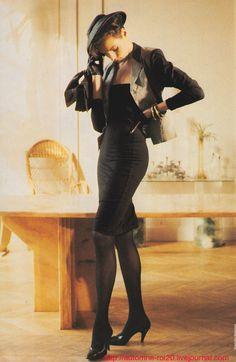 Famke Janssen - Elle France by Pamela Hanson, March 1987