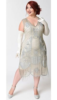 677db182aed Beaded Flapper Dresses. Gatsby Dress Plus SizeGreat Gatsby DressesUnique ...