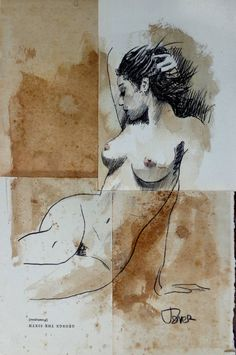 a little nude study Drawing Figure Painting, Figure Drawing, Painting & Drawing, Life Drawing, Drawing Sketches, Art Drawings, Art Abstrait, Erotic Art, Figurative Art