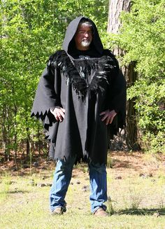 Game of Thrones Cloak Black Fleece Hooded Cape by @DonnasDesignsSC #A4team #cosplay