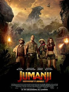Jack Black, Kevin Hart, Dwayne Johnson, and Karen Gillan in Jumanji: Welcome to the Jungle Free Movie Downloads, Full Movies Download, Jack Black, 2018 Movies, Movies Online, Movies 2017 List, Jumanji Movie, Jumanji 1995, Video Game