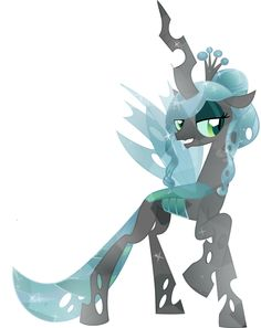 Crystal Queen Chrysalis--update by PrinceOfRage on DeviantArt My Little Pony Poster, My Little Pony Drawing, Mlp My Little Pony, My Little Pony Friendship, Big Bang Theory, Godzilla, Crystal Ponies, Queen Chrysalis, Pony Style