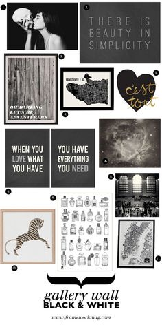 Monochromatic picks to add class to any space. Gallery: Black and White Art. // frameworkmag.com