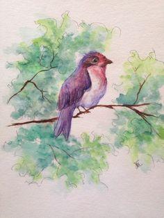 """""""Happy""""   9 x 12 • Watercolor/Pen"""